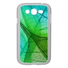 Sunlight Filtering Through Transparent Leaves Green Blue Samsung Galaxy Grand Duos I9082 Case (white) by BangZart