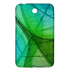 Sunlight Filtering Through Transparent Leaves Green Blue Samsung Galaxy Tab 3 (7 ) P3200 Hardshell Case  by BangZart