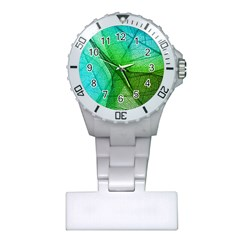Sunlight Filtering Through Transparent Leaves Green Blue Plastic Nurses Watch by BangZart