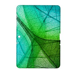 Sunlight Filtering Through Transparent Leaves Green Blue Samsung Galaxy Tab 2 (10 1 ) P5100 Hardshell Case  by BangZart