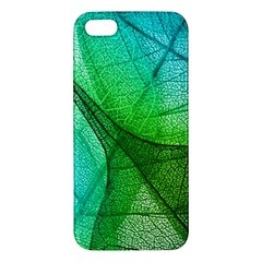 Sunlight Filtering Through Transparent Leaves Green Blue Iphone 5s/ Se Premium Hardshell Case by BangZart