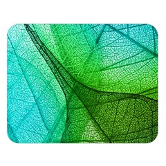 Sunlight Filtering Through Transparent Leaves Green Blue Double Sided Flano Blanket (large)