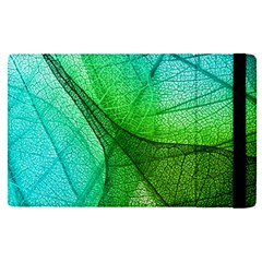 Sunlight Filtering Through Transparent Leaves Green Blue Apple Ipad Pro 12 9   Flip Case by BangZart