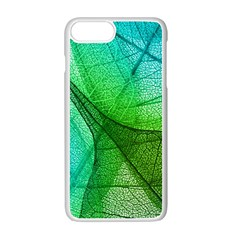 Sunlight Filtering Through Transparent Leaves Green Blue Apple Iphone 7 Plus White Seamless Case