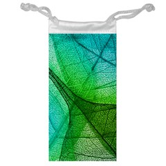 Sunlight Filtering Through Transparent Leaves Green Blue Jewelry Bag