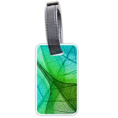 Sunlight Filtering Through Transparent Leaves Green Blue Luggage Tags (one Side)  by BangZart