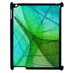 Sunlight Filtering Through Transparent Leaves Green Blue Apple Ipad 2 Case (black)