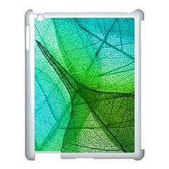 Sunlight Filtering Through Transparent Leaves Green Blue Apple Ipad 3/4 Case (white) by BangZart