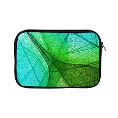 Sunlight Filtering Through Transparent Leaves Green Blue Apple Ipad Mini Zipper Cases by BangZart