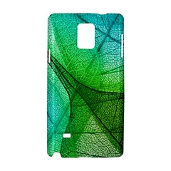 Sunlight Filtering Through Transparent Leaves Green Blue Samsung Galaxy Note 4 Hardshell Case by BangZart