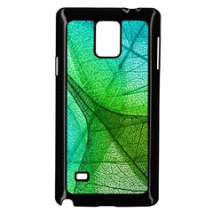 Sunlight Filtering Through Transparent Leaves Green Blue Samsung Galaxy Note 4 Case (black) by BangZart