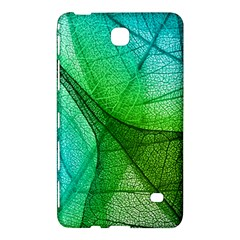 Sunlight Filtering Through Transparent Leaves Green Blue Samsung Galaxy Tab 4 (8 ) Hardshell Case  by BangZart