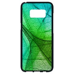 Sunlight Filtering Through Transparent Leaves Green Blue Samsung Galaxy S8 Black Seamless Case