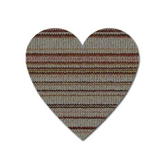 Stripy Knitted Wool Fabric Texture Heart Magnet by BangZart