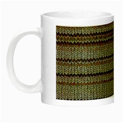 Stripy Knitted Wool Fabric Texture Night Luminous Mugs by BangZart