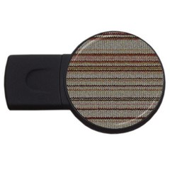 Stripy Knitted Wool Fabric Texture Usb Flash Drive Round (4 Gb) by BangZart