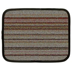 Stripy Knitted Wool Fabric Texture Netbook Case (xxl)  by BangZart
