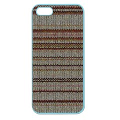 Stripy Knitted Wool Fabric Texture Apple Seamless Iphone 5 Case (color) by BangZart