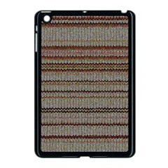 Stripy Knitted Wool Fabric Texture Apple Ipad Mini Case (black) by BangZart
