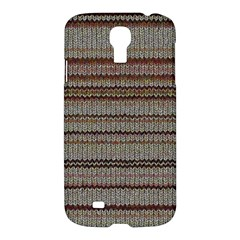 Stripy Knitted Wool Fabric Texture Samsung Galaxy S4 I9500/i9505 Hardshell Case by BangZart