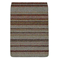 Stripy Knitted Wool Fabric Texture Flap Covers (l)  by BangZart