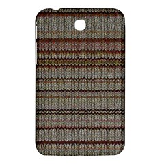 Stripy Knitted Wool Fabric Texture Samsung Galaxy Tab 3 (7 ) P3200 Hardshell Case  by BangZart