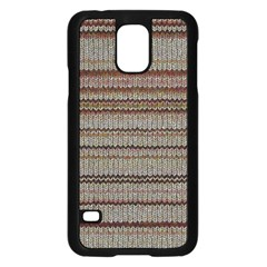 Stripy Knitted Wool Fabric Texture Samsung Galaxy S5 Case (black) by BangZart