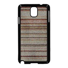 Stripy Knitted Wool Fabric Texture Samsung Galaxy Note 3 Neo Hardshell Case (black) by BangZart