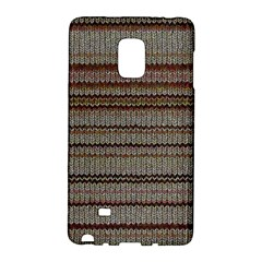 Stripy Knitted Wool Fabric Texture Galaxy Note Edge by BangZart