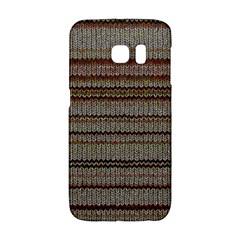 Stripy Knitted Wool Fabric Texture Galaxy S6 Edge