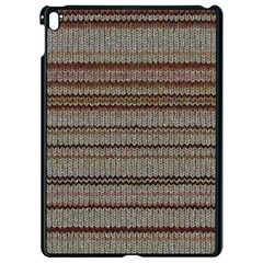 Stripy Knitted Wool Fabric Texture Apple Ipad Pro 9 7   Black Seamless Case
