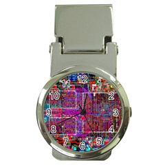 Technology Circuit Board Layout Pattern Money Clip Watches by BangZart