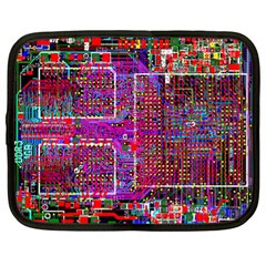 Technology Circuit Board Layout Pattern Netbook Case (large) by BangZart