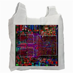 Technology Circuit Board Layout Pattern Recycle Bag (one Side) by BangZart