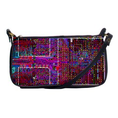 Technology Circuit Board Layout Pattern Shoulder Clutch Bags by BangZart