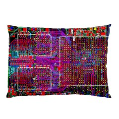 Technology Circuit Board Layout Pattern Pillow Case (two Sides) by BangZart