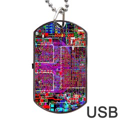 Technology Circuit Board Layout Pattern Dog Tag Usb Flash (one Side) by BangZart