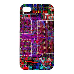 Technology Circuit Board Layout Pattern Apple Iphone 4/4s Premium Hardshell Case by BangZart