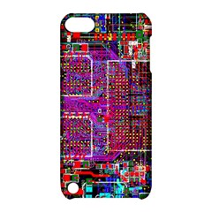 Technology Circuit Board Layout Pattern Apple Ipod Touch 5 Hardshell Case With Stand by BangZart