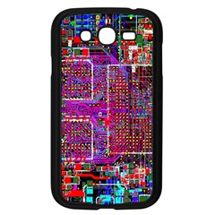 Technology Circuit Board Layout Pattern Samsung Galaxy Grand Duos I9082 Case (black) by BangZart