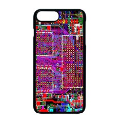 Technology Circuit Board Layout Pattern Apple Iphone 7 Plus Seamless Case (black)