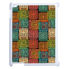 Stract Decorative Ethnic Seamless Pattern Aztec Ornament Tribal Art Lace Folk Geometric Background C Apple Ipad 2 Case (white) by BangZart