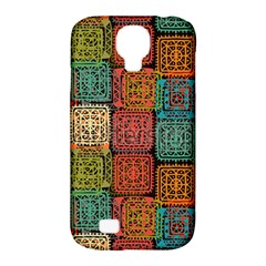 Stract Decorative Ethnic Seamless Pattern Aztec Ornament Tribal Art Lace Folk Geometric Background C Samsung Galaxy S4 Classic Hardshell Case (pc+silicone) by BangZart