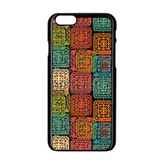 Stract Decorative Ethnic Seamless Pattern Aztec Ornament Tribal Art Lace Folk Geometric Background C Apple Iphone 6/6s Black Enamel Case by BangZart