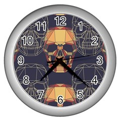 Skull Pattern Wall Clocks (silver)  by BangZart