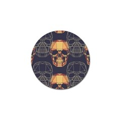 Skull Pattern Golf Ball Marker (10 Pack)