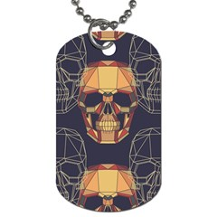 Skull Pattern Dog Tag (two Sides) by BangZart