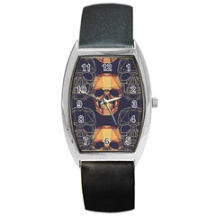 Skull Pattern Barrel Style Metal Watch by BangZart