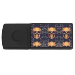 Skull Pattern Rectangular Usb Flash Drive by BangZart