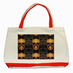 Skull Pattern Classic Tote Bag (red) by BangZart